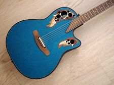1996 Adamas by Ovation 1881-NBBG 87 Blue Green Mid-Depth Acoustic Guitar w/ohc