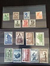 P.N.G 1952 Pre-Decimal Set of 16 Stamps MUH