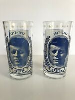 Vintage President JFK Commemorative Drinking Glasses Great Condition