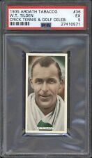 1935 Ardath Tobacco W.T. TILDEN #36 PSA 5 EX Golf Celebrity