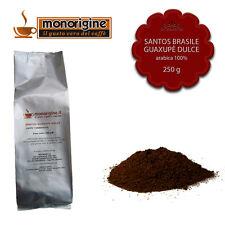 Caffè Arabica macinato fresco per espresso Santos Brasile Guaxupè Dulce 250 gr