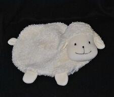 Peluche doudou mouton plat STERNTALER blanc grelot poche scratchée dorsale TTBE