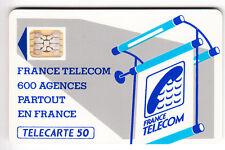 VARIETE TELECARTE LOGO .. 50U Te33 SC5AB FOND DE PUCE ROUGE IMP.15765   C.?€