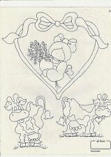 Vintage Iron On Transfers  for embroidery or painting on wood Kids No(11)