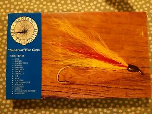 Bantam Fly fishing tying kit by Universal Vise Corp with booklet, wax, Vintage