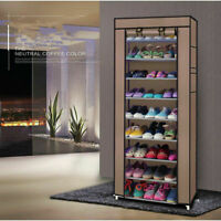 Portable Fabric Shoe Rack Shelf Storage Closet Home Organizer Cabinet 9 Lattices