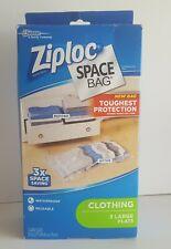 "Ziploc Space Bag Flat 3 Count Large  Waterproof Reusable   Large 18""X30"""