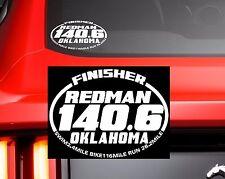 2018 Or Any year Redman Oklahoma City Ironman Triathlon Finisher Decal