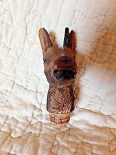 Ancien bouchon taillé dans la masse-tête de chevreuil-bois massif-art populaire