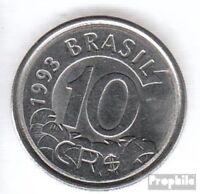 Brasilien KM-Nr. : 628 1993 vorzüglich Stahl 1993 10 Cruzeiros Reais Ameisenbär