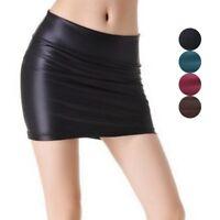 Women Mini Skirt Faux Leather Pencil Skirts Sexy Bodycon Dress Fashion Clubwear