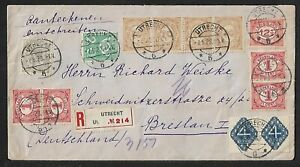 NETHERLANDS TO GERMANY MULTIFRANKED COVER 1923