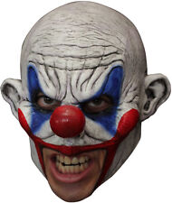 ANGRY CLOWN CHINLESS HEAD MASK WITH CHINSTRAP LATEX HORROR HALLOWEEN