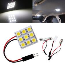100X 5050 9SMD White Led Dome Light Panel Car Interior T10 BA9S Festoon Adapter