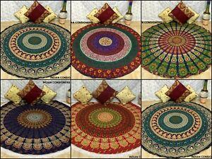 Bohomian Round Big & Small Roundies Mandala Design Cotton Material Fabric Classy