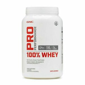 GNC Pro Performance 100% Whey Protein 25 Servings Unflavored EX:01/2022