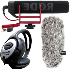RODE VideoMic GO Kamera Mikrofon + DeadCat Go Windschutz + KEEPDRUM Kopfhörer
