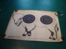 Original Vintage Poster: Muzzle Loading Rifle target, BUFFALO, 22 1/2 X 17 3/4