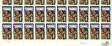 # 2102 Us Postage Stamps Plate Block Take A Bite Out Of Crime 20 Stamps
