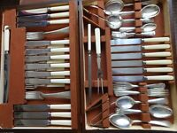 Vintage Silver Plated EPNS 69 Piece Cutlery Set Canteen for 6 Places SSP&C Co.