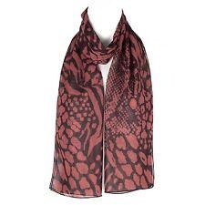Chiffon Ladies Womens Abstract Flower Design Scarf Shawl Wrap