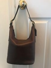 Brown Leather Coach Hobo Bag