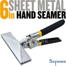 Sheet Metal Hand Seamer - 6 Inch Straight Handle Jaw Manual Metal Bender Tool