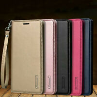 Luxury Magnetic Leather Card Slot Wallet Purse Stand Folio Case For iPhone Sony