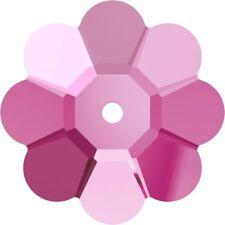 Lotto Assortito SWAROVSKI ® - 50 Pz  Margarita 3700 - 12 e 8 mm. Rose e Shappire