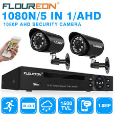 CCTV 4ch 1080n HDMI DVR Outdoor 1500tvl IR Night Camera Home Security System Kit