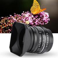 F/1.6 35mm MF APS-C Objektiv Spiegellose Prime Lens for EOS-M Kamera w/Lens Hood