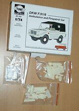 DKW F.91P6 Ambulance and Firepatrol Car in 1/72 von Planet
