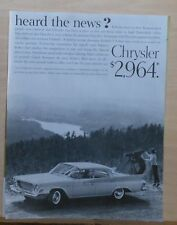 1961 magazine ad for Chrysler - Newport, no Chrysler junior edition, Unibody