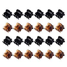 20 Pcs Femme Mini Pince Épingle Clips Barrette Chapeau Noir Cheveux Accessoire
