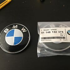 2 X 74mm REPLACEMENT BMW E46 E60 E61 E81 E90 E91 E92 X5 M3 Boot BADGE. UK SELLER
