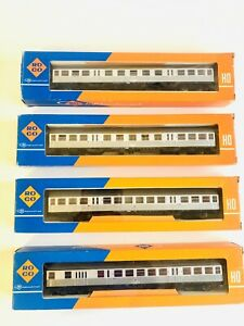 Roco H0 Personenwagen Set DB, 4 Stück, 4264 4265 4266, Topzustand OVP