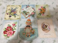 Lot of (6) Greeting Cards Vintage Antique Valentines Christmas Easter Birthday