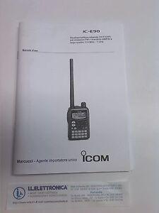 MANUALE IN ITALIANO istruzioni d'uso per ICOM IC-E90