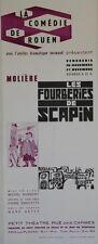 """""""LES FOURBERIES DE SCAPIN / MOLIERE"""" Affiche originale entoilée Pierre GARCETTE"""