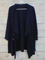 Every Day by Susan Graver Liquid Knit Anorak Style Cardigan XL $ 56 Blue