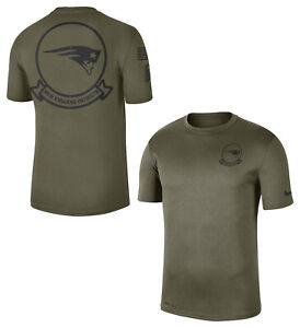 NIKE NEW ENGLAND PATRIOTS SALUTE TO SERVICE SIDELINE SEAL NFL SHIRT CT1668-222 M
