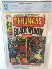 1970 AMAZING ADVENTURES #1 CBCS 7.0  (not CGC) 1st BLACK WIDOW in own title
