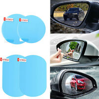 Car Rearview Mirror Protector Film Anti Water Mist Film Anti Fog Rainproof 2PCS