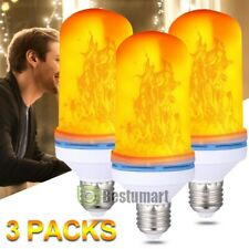 3 Pack Led Flame Effect Fire Light Bulb E27 Flickering Lamp Simulated Decorative
