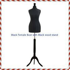 Black Female Tailors Mannequin Display  Dummy For Dressmakers Size 8/10 or 10/12