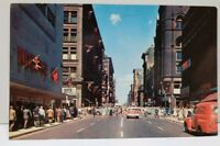 Ontario Canada Yonge St Looking North Postcard D2