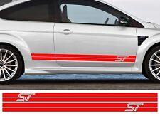 2 X BANDES POUR FORD FOCUS ST RALLYE 200cmX11cm AUTOCOLLANT STICKER AUTO BD564R