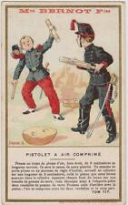 CHROMO ANCIEN PUBLICITAIRE BERNOT FRERES/PISTOLET AIR COMPRIME Sciences TOM TIT/