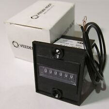 VEEDER ROOT 779086-207 PANEL MOUNT TOTALIZER/ COUNTER 12V 1.5W NON-RESET 6-DIGIT