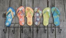 Wandhaken mit Sandalen aus Metall Garderobenhaken Flip Flops Kleiderhaken ...